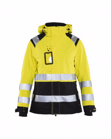 Blaklader 4904 Ladies High Vis Shell Jacket (Yellow/Black)